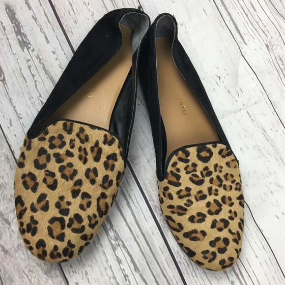 66f119765c8 Franco Sarto Calf Hair Leopard Flats Slip On. M 5b7c0b2781bbc859620ae373